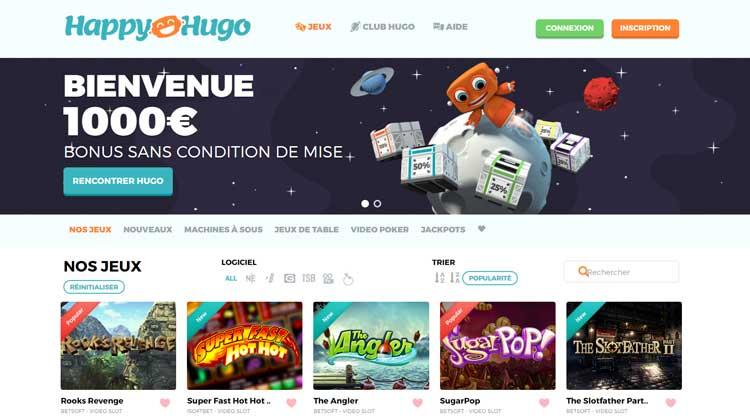 Avis sur le casino Happy Hugo